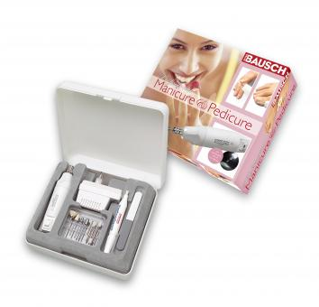 Manicure and pedicure device with all-round lighting